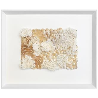 Frame white - white border, filled, uncovered - coral white with abalone