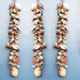Garland abaca rope with assorted shell coloured and Melo